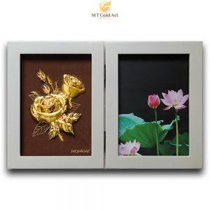 khung ảnh hoa hồng